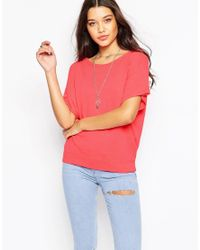 Sundry - Pink Short Sleeve Fleece Sweatshirt - Lyst