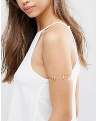 ASOS | Metallic Swallow Arm Cuff | Lyst