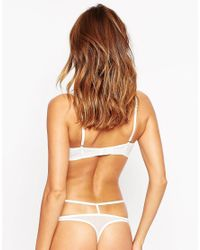 ASOS | White Patsy Fishnet Lace Caged Thong | Lyst