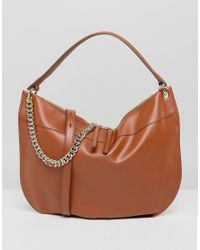 Fiorelli | Brown Oversized Hobo Shoulder Bag In Tan With Chain Detail | Lyst