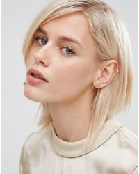 ASOS - Metallic Pack Of 2 Simple Shape & Stud Earrings - Lyst