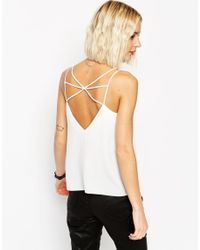 ASOS | Natural Strap Detail Cami Top | Lyst