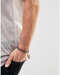 Classics 77 - Black Plaited Bracelet for Men - Lyst