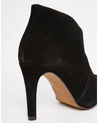SELECTED - Black Femme Alexandra Suede Heeled Ankle Boots - Lyst