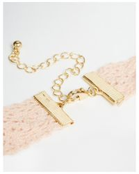ASOS - Pink Lace Choker Necklace - Lyst