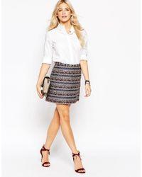 Oasis | Multicolor Jacquard Mini Skirt | Lyst