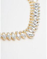 ASOS | Metallic Jewelled Section Headband | Lyst