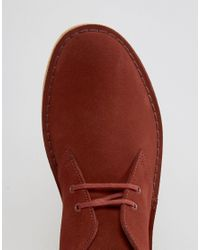 Clarks - Red Desert Boots for Men - Lyst