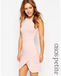 ASOS | Pink Asymmetric Sleeveless Body-conscious Dress | Lyst