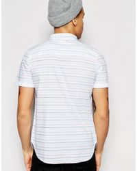 Another Influence - Blue Short Sleeve Aztec Print Shirt for Men - Lyst