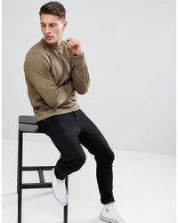 Abercrombie & Fitch - Natural Sports Fleece Crew Neck Sweatshirt In Light Khaki for Men - Lyst