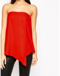 ASOS | Origami Bandeau Top - Red | Lyst