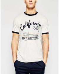Tokyo Laundry - Gray California Print T-shirt for Men - Lyst