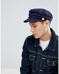 Stradivarius Baker Boy Hat In Navy in Blue for Men - Lyst dca1ecb1b27