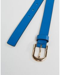 Smith & Canova - Blue Skinny Leather Belt for Men - Lyst