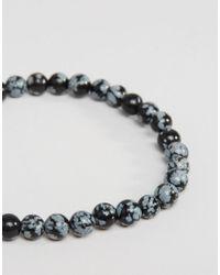 Jack & Jones - Gray Beaded Bracelet In Grey - Grey for Men - Lyst