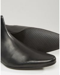 ASOS - Black Chelsea Boots In Leather for Men - Lyst