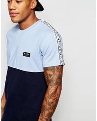 Nicce London - Blue T-shirt With Taping for Men - Lyst