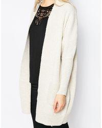 Ganni | Natural Uma Knit Longline Cardigan | Lyst