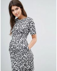 ASOS - Multicolor Mini Wiggle Dress In Leopard Print - Lyst