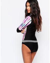 Hobie - Black Tie Dye Bodysuit - Lyst