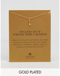 Dogeared | Metallic Gold Plated Stand Out From The Crowd Giraffe Reminder Necklace | Lyst