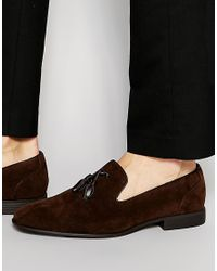 ASOS - Tassel Loafers In Brown Faux Suede for Men - Lyst