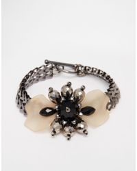 Coast - Metallic Floral Fifi Bracelet - Lyst