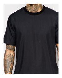 ASOS - Boxy T-shirt In Black With Raw Edge Hem - Black for Men - Lyst