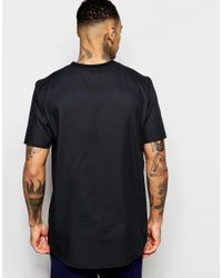 ASOS - Boxy T-shirt In Black With Raw Edge Hem - Black for Men - Lyst