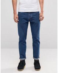 Men's Blue Boyton Mid Wash Tapered Jeans