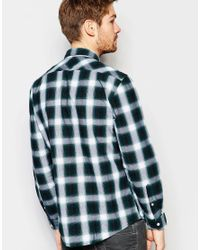 Esprit - Green Check Shirt With Button Down Collar In Regular Fit for Men - Lyst