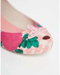 Melissa + Vivienne Westwood Anglomania - Multicolor Rose Print Ultragirl Wedge Shoes - Lyst