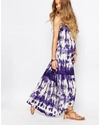 Billabong - Multicolor Silver Bloom Maxi Dress With Cross Back In Tie Dye - Lyst