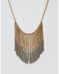Pieces - Metallic Taneka Statement Necklace - Lyst