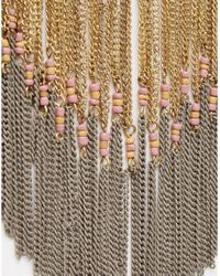 Pieces - Metallic Taneka Statement Necklace - Lyst