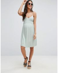 ASOS - Green Tall Lace Up Back 90s Skater Dress - Lyst