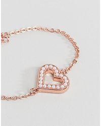 Ted Baker - Metallic Edriana Heart Bracelet - Lyst