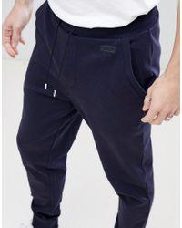 HUGO - Blue Rerverse Logo Sweat Joggers In Navy for Men - Lyst