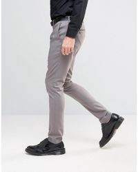 Only & Sons - Gray Super Skinny Smart Trousers for Men - Lyst