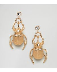 Bill Skinner - Metallic Beetle Statement Earrings (+) - Lyst