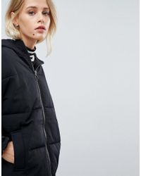 ASOS - Black Short Puffer Jacket - Lyst