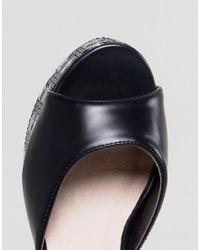 Lost Ink - Black Binx Platform Star Sandals - Lyst
