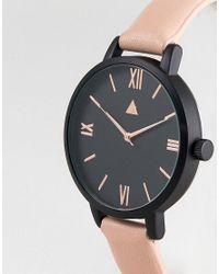 ASOS - Black Tonal Face Rose Gold Watch - Lyst