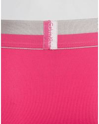 Calvin Klein - Pink Low Rise Trunks Magnetic Microfibre for Men - Lyst