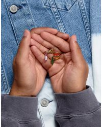 ASOS - Multicolor 4 Pack Pin Badge Set With Cactus - Lyst