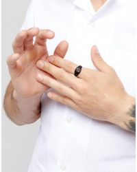 Icon Brand - Cross Signet Ring In Matte Black for Men - Lyst