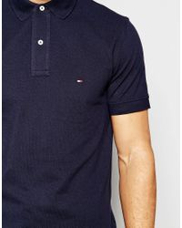 Tommy Hilfiger - Blue Polo In Slim Fit In Navy for Men - Lyst
