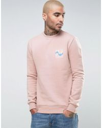 Friend or Faux - Pink Reefs Back Print Sweater for Men - Lyst