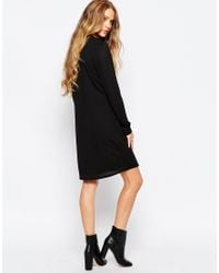 ONLY - Black Lace Up Dress - Lyst